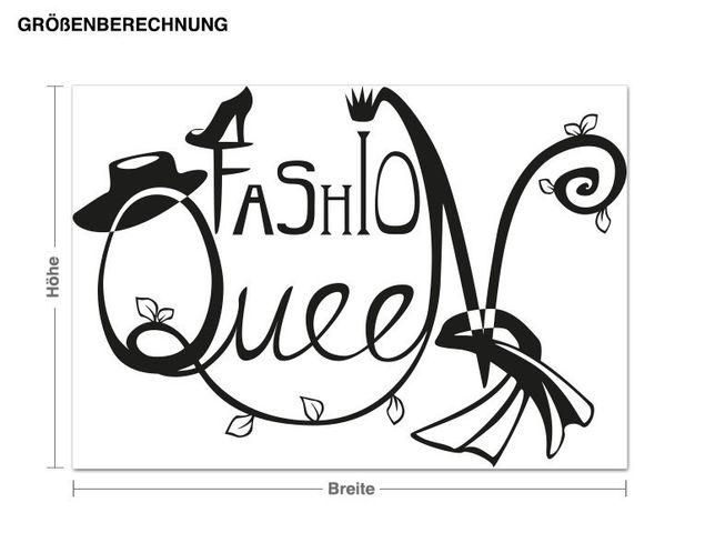 Wandtattoo Fashion Queen