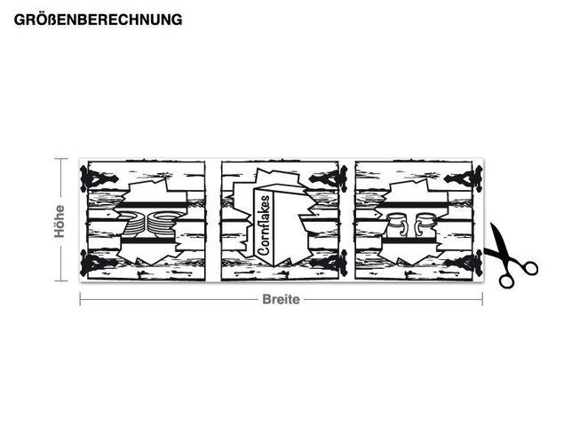 Wandtattoo Fassadenschrank