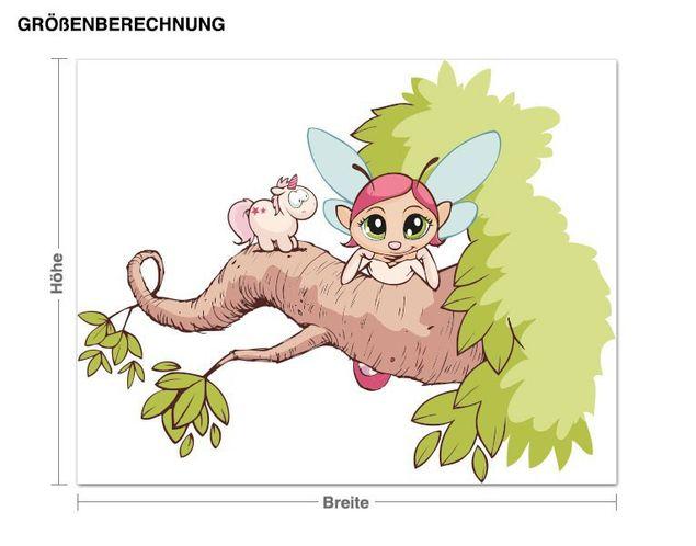 Wandtattoo Feeoly und Theodor auf einem Baum