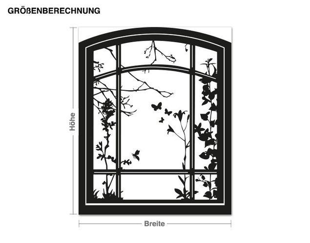 Wandtattoo Fenster im Frühling