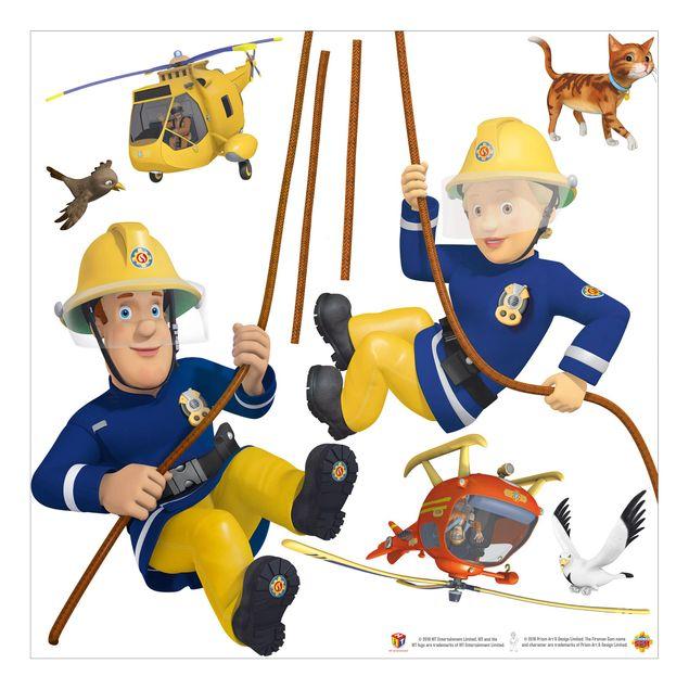 Wandtattoo - Feuerwehrmann Sam - rettet dich