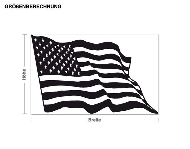 Wandtattoo Flagge