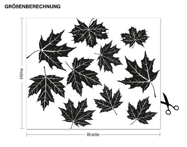 Wandtattoo Fliegende Blätter