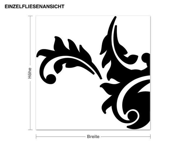 Wandtattoo Fliesen Zwei Barocke Muster (24 Stück)