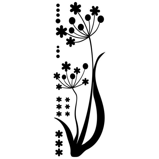 Wandtattoo Floral Blume im Wind
