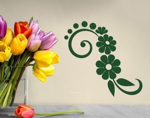 Wandtattoo Florale Welle