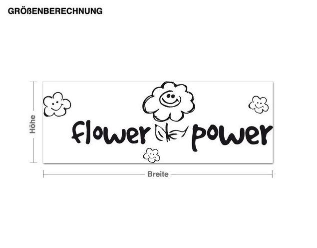 Wandtattoo Flower-Power