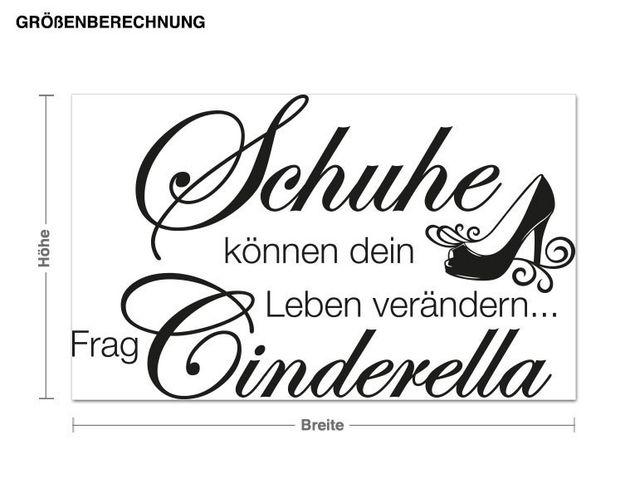 Wandtattoo Frag Cinderella