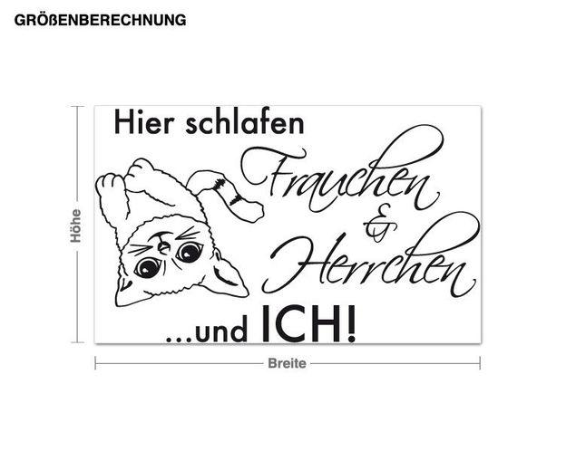 Wandtattoo Frauchen & Herrchen