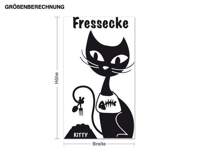 Wandtattoo Fressecke