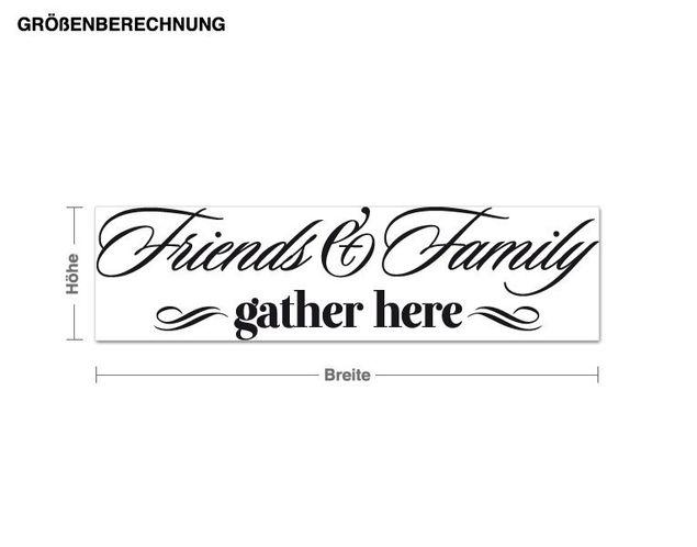 Wandtattoo Friends & Family