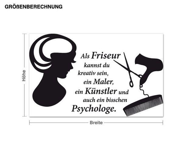 Wandtattoo Friseurwelt