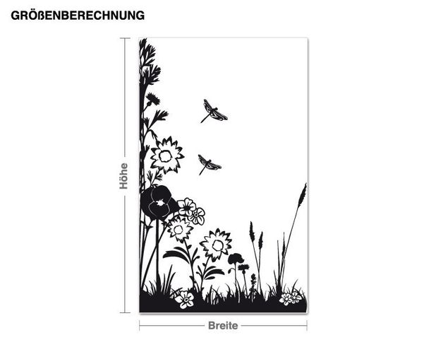 Wandtattoo Frühlingswiese