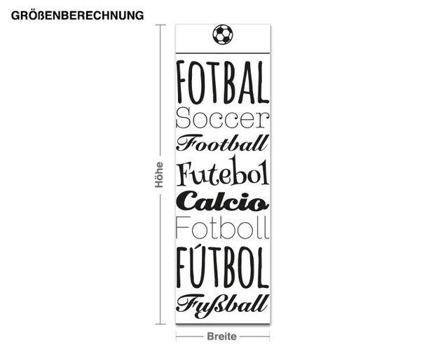 Wandtattoo Fußball International