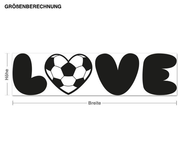 Wandtattoo Fußball LOVE