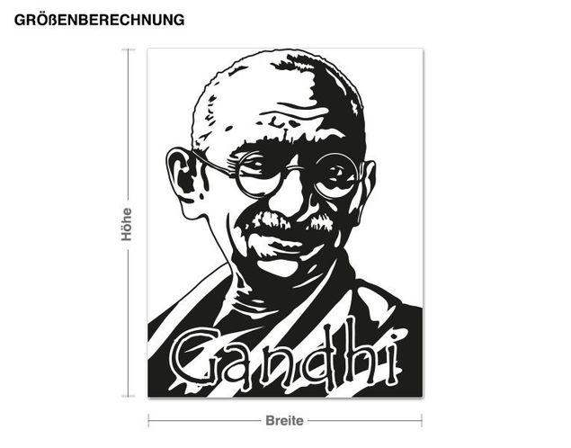Wandtattoo Gandhi Portrait