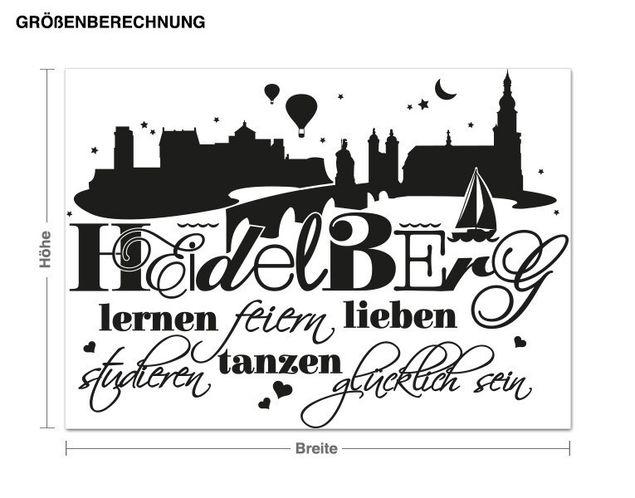 Wandtattoo Glücklich in Heidelberg