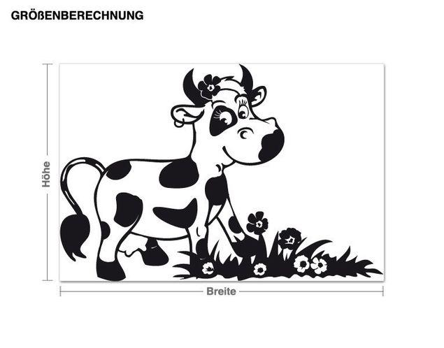 Wandtattoo Glückliche Kuh