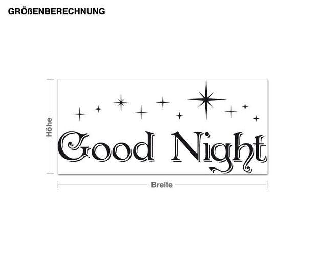 Wandtattoo Good Night