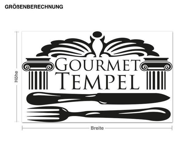 Wandtattoo Gourmet Tempel 2