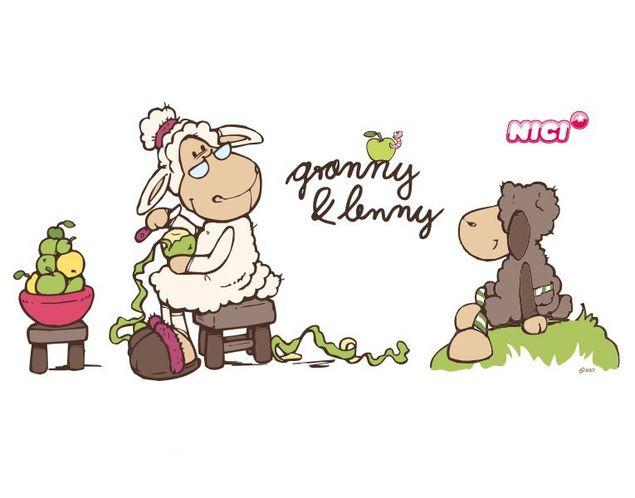 Wandtattoo Granny & Lenny Mäh