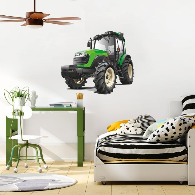 Wandtattoo - Großer grüner Traktor