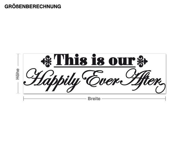 Wandtattoo Happily Ever After