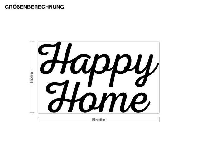 Wandtattoo Happy Home