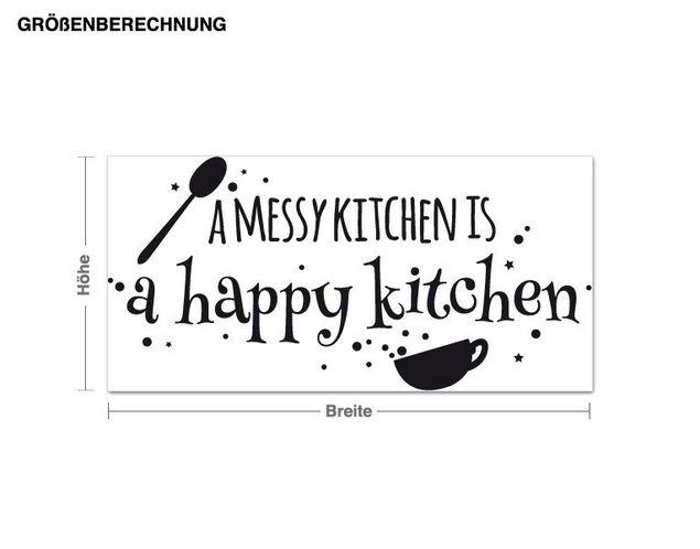 Wandtattoo Happy Kitchen