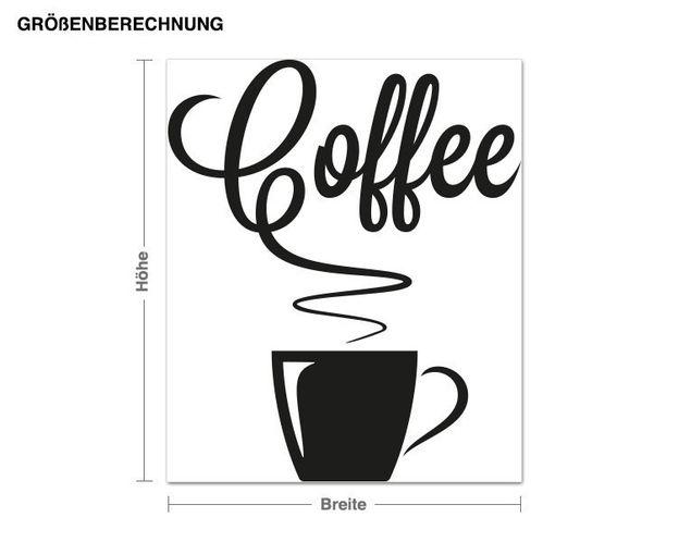 Wandtattoo Heißer Kaffee