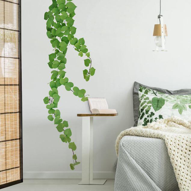 Wandtattoo - Herzförmige Blätter Ranke