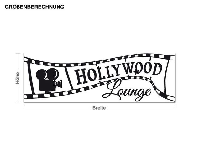Wandtattoo Hollywood Lounge