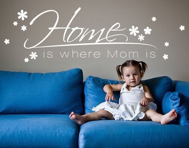 Wandtattoo Home is where Mom is