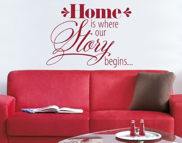 Wandtattoo Home is where our Story begins
