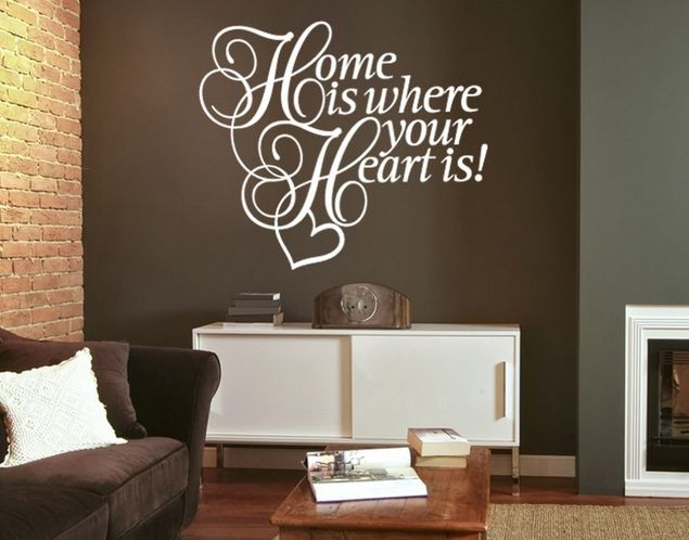 Wandtattoo Home is where the Heart is