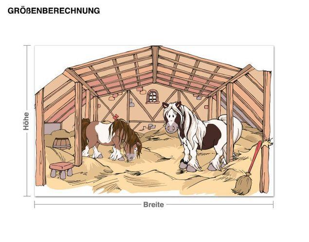 Wandtattoo Horse Club Junior Pferdestall