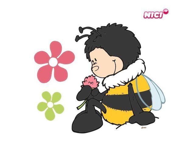 Wandtattoo Hummel mit Blume