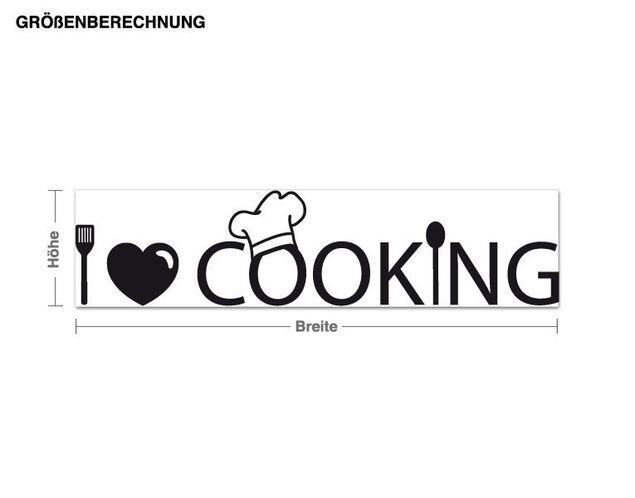 Wandtattoo I Love Cooking