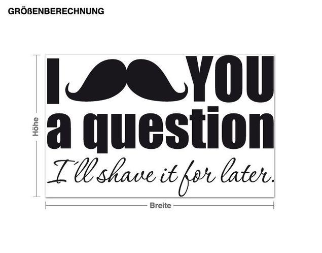 Wandtattoo I moustache ...