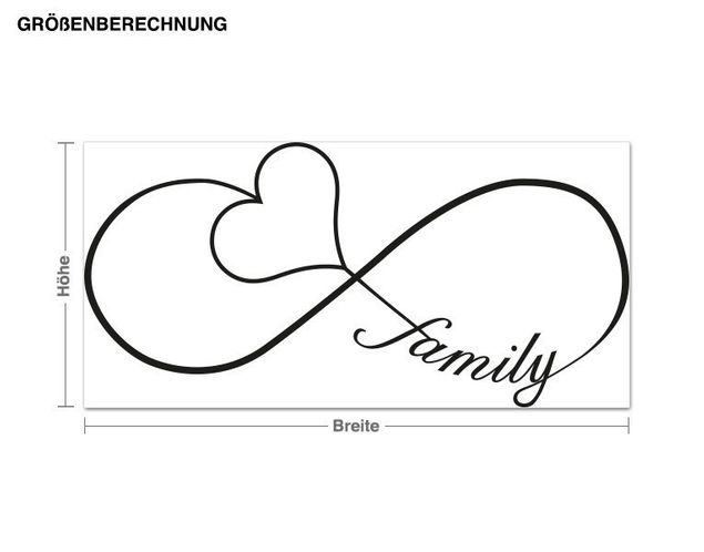 Wandtattoo Infinity Family