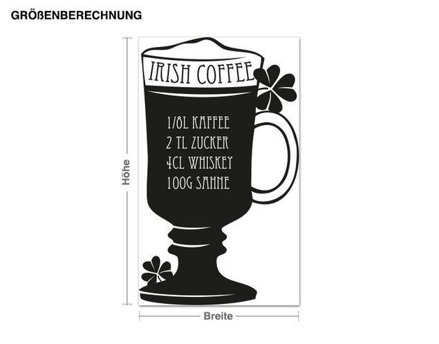 Wandtattoo Irish coffee