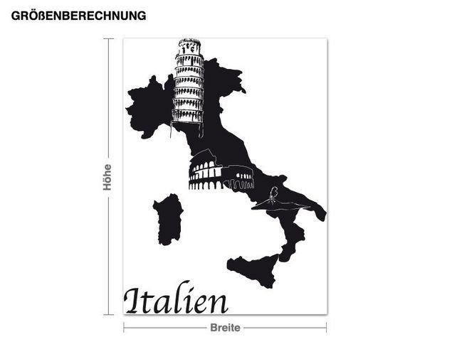 Wandtattoo Italien