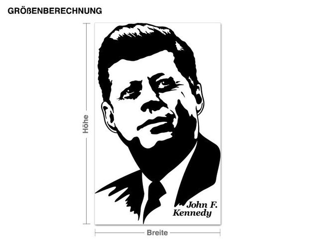 Wandtattoo John F. Kennedy