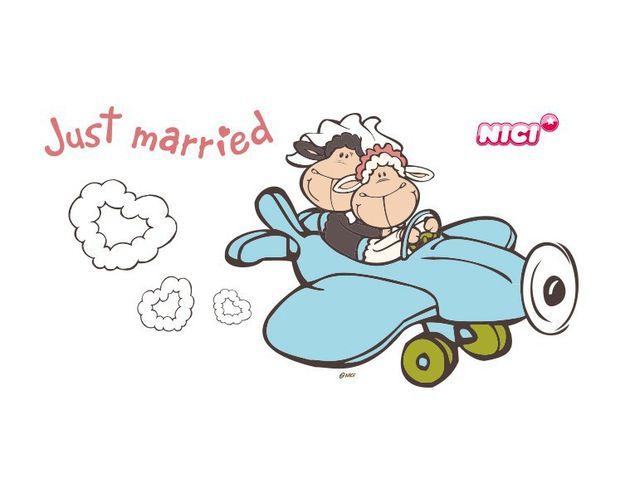 Wandtattoo Jolly Just Married