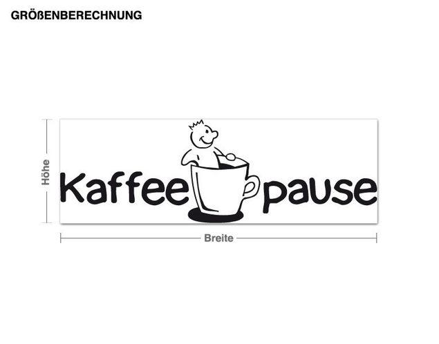 Wandtattoo Kaffeepause