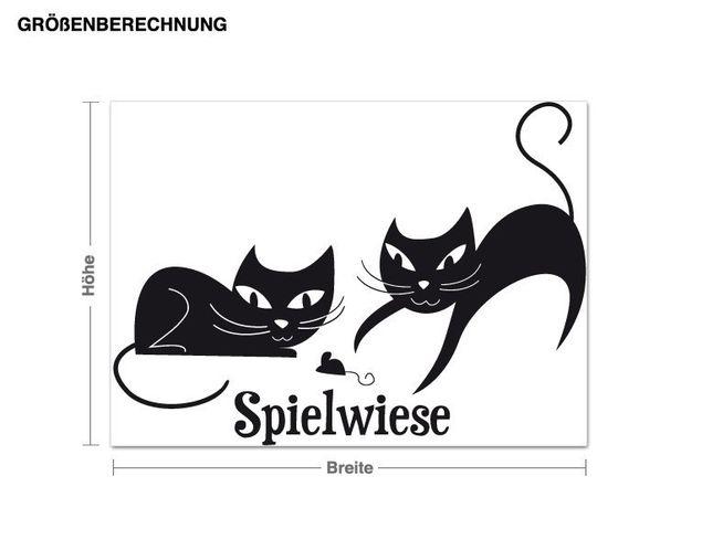 Wandtattoo Katzenspielwiese