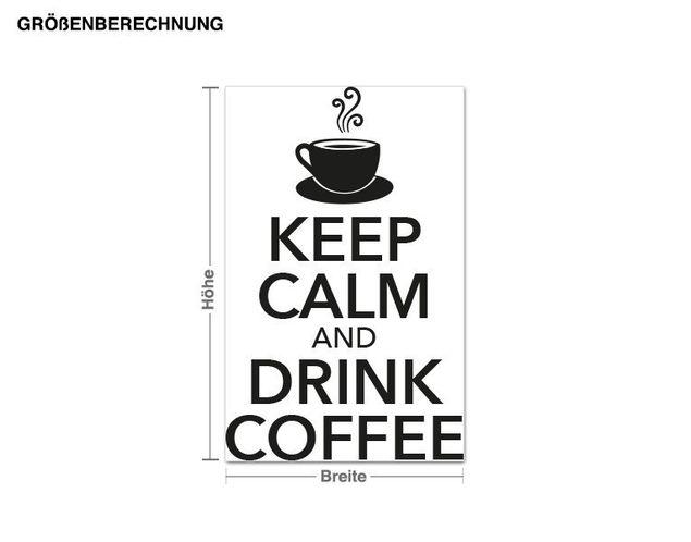 Wandtattoo Keep Calm Coffee