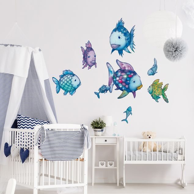 Wandtattoo Kinderzimmer Der Regenbogenfisch - Unterwasserparadies Sticker Set