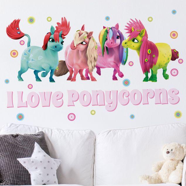 Wandtattoo Kinderzimmer Mia and Me - I Love Ponycorns