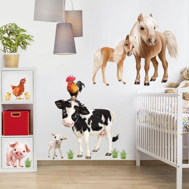 Wandtattoo Kinderzimmer - Tiere auf dem Bauernhof Set